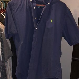 Short sleeve button down polo